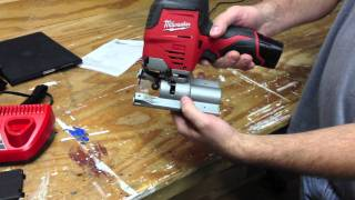 getlinkyoutube.com-Exclusive Milwaukee M12 Cordless Jig Saw 2445-21 Hybrid Grip in Action