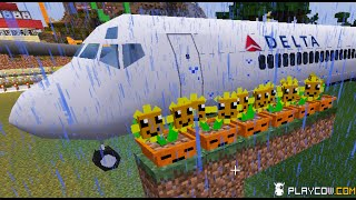getlinkyoutube.com-Minecraft Mod Plants vs. Zombies 2 Vs Air Force Planes Helicopter!