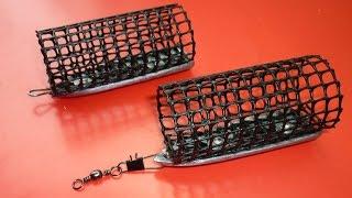 getlinkyoutube.com-Фидерная кормушка своими руками из пластиковой сетки .feeder fishing  .