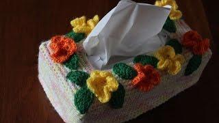 getlinkyoutube.com-How To Crochet A Pretty Flower Tissue Box Cover - DIY Home Tutorial - Guidecentral