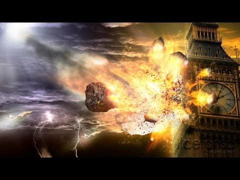 Tutorial Photoshop: Explosion Meteorito