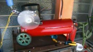 getlinkyoutube.com-Compressor com motor de geladeira