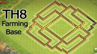 getlinkyoutube.com-Town Hall 8 (TH8) Hybrid Base [Farming after big update] - تصميم موارد تاون هول 8 للتحديث الجديد