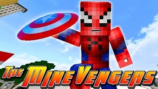 getlinkyoutube.com-Minecraft Adventures - SPIDERMAN STEALS CAPTAIN AMERICA'S SHIELD!!