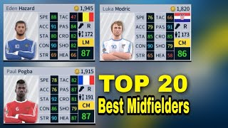 TOP 20 Best Midfielders In Dream League Soccer 2018 ft. Modric, Hazard, Pogba