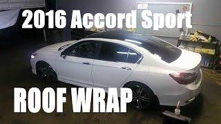 getlinkyoutube.com-2016 Honda Accord sport white with Black Wrap top