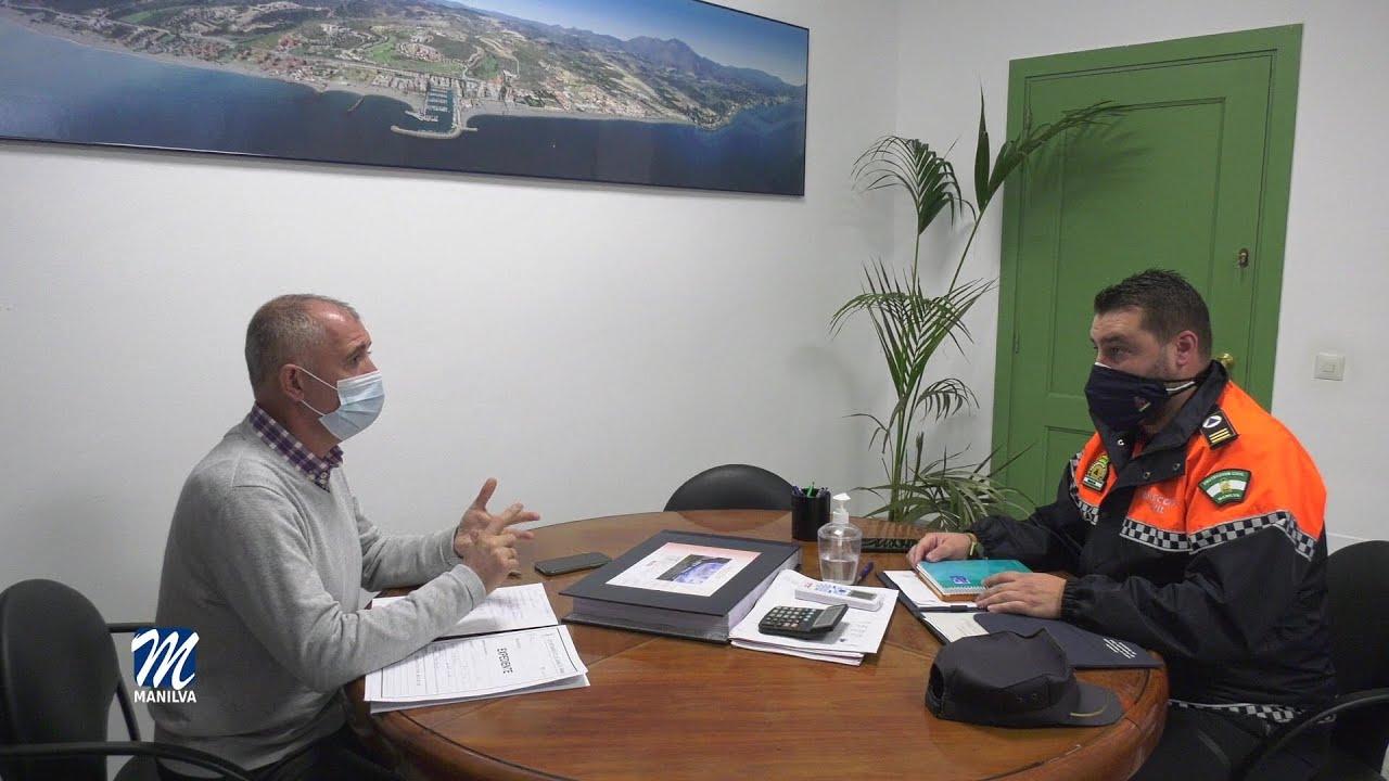 Reunión de trabajo entre Protección Civil y alcaldía