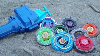 getlinkyoutube.com-~Outdoor Beyblade Battle Series #3: Sand! (Viewer Requested)