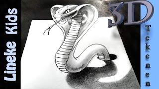 getlinkyoutube.com-Hoe teken je een Cobra / 3D tekenen # 42