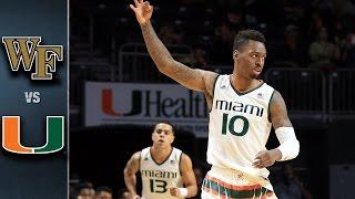 getlinkyoutube.com-Wake Forest vs. Miami Basketball Highlights (2015-16)