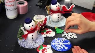 getlinkyoutube.com-Video Tutorial Fiocco di neve Pyssla Hama beads Idea decorazione albero di natale Christmas Tree