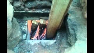 getlinkyoutube.com-Rocket Mass Heater part 3