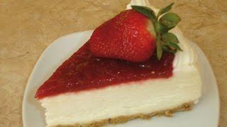 Cheesecake de fresa facíl (sin horno) frio
