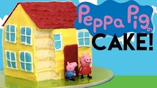getlinkyoutube.com-Peppa Pig CAKE   How to Make a Peppa Pig House Cake   My Cupcake Addiction