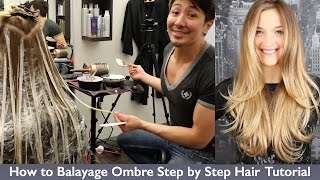 getlinkyoutube.com-How to Balayage Ombre Step by Step Hair Painting