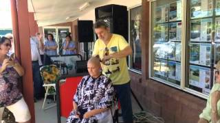 getlinkyoutube.com-Sharon White does Shave for a Cure