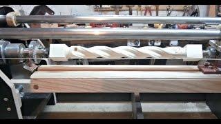 getlinkyoutube.com-Витые балясины (каннелюр). Часть 2. The milling machine for wood. Part 2.