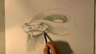 getlinkyoutube.com-Hoe teken je een Slang / dieren tekenen / #10
