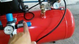 getlinkyoutube.com-Compressor caseiro com motor de geladeira (Homemade)