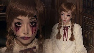 getlinkyoutube.com-Vintage Doll + Broken Doll ✞ Halloween Makeup