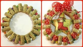 getlinkyoutube.com-Cómo hacer un adorno o base con corchos. how to make a Christmas ornament with corks