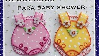 getlinkyoutube.com-RECUERDOS DE BABY SHOWER PARA NIÑAS EN FOAMY O GOMA EVA.