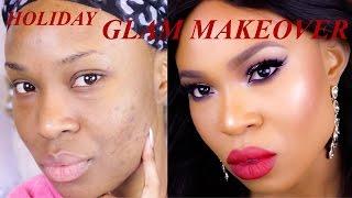 getlinkyoutube.com-Holiday Glitter Glam Makeover