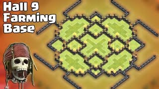 getlinkyoutube.com-Clash of clans - Town Hall 9 (TH9) Farming Base (Insect) 2015