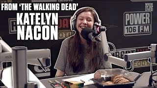 getlinkyoutube.com-Katelyn Nacon of 'The Walking Dead' Talks Singing Career, Crying On Cue,  And More!