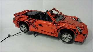 getlinkyoutube.com-LEGO Porsche 911 (997) Turbo Cabriolet PDK, most advanced LEGO car EVER! by Sheepo