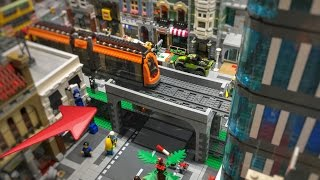 getlinkyoutube.com-Lego City Train Crossing Bridge 🛤🏙