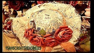 getlinkyoutube.com-Hat made of Newspaper part 3