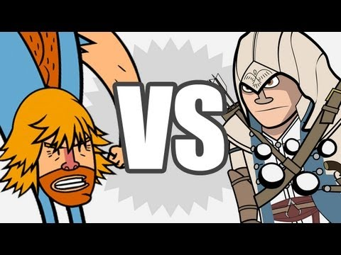 Assassin's Creed VS Chuck Norris (Animation Battle #2)