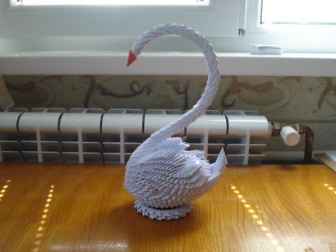 How To Make A 3d Origami Swan #2