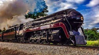getlinkyoutube.com-Chasing Norfolk & Western J Class 611 Between Manassas & Front Royal, Virginia 6/7/15 (Multi-Angle)