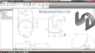 Autodesk Inventor-Advance Modeling Practice#3_Laser cut & Bending Part