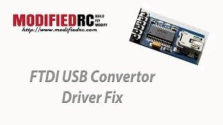 FTDI USB Convertor Driver Fix