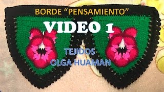 getlinkyoutube.com-BORDE A CROCHET PARA COLCHA PENSAMIENTO VIDEO 1