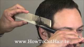 getlinkyoutube.com-How To Cut Men's Hair - Scissor Over Comb Barbering Tecnnique