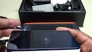 getlinkyoutube.com-Poweradd Apollo Pro 23000mAh Solar Panel Portable Battery Power Bank With LED Flashlight