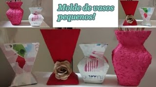 getlinkyoutube.com-Como fazer molde de vasos pequenos - Vasos feito com caixa de leite!