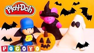 getlinkyoutube.com-Pocoyo Play Doh Halloween Costume DIY Play Doh Pocoyo Пластилін Покојо