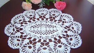 getlinkyoutube.com-Como Tejer Carpeta o Centro de Mesa a crochet paso a paso DIY 1/3