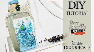 Glass decoupage   decoupage tutorial