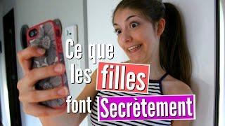 10 choses que les filles font secrètement ♡