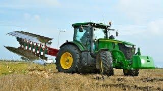 getlinkyoutube.com-John Deere 7260R + 7 furrow LO 100 on-land ploughing / ploegen - Thes Agro