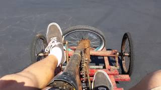 Old homemade pedal car