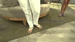 getlinkyoutube.com-Vionic w/ Orthaheel Orthotic Thong Sandals - Tide Sequins with Shawn Killinger