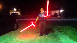 getlinkyoutube.com-Kylo Ren Black Series Force FX Lightsaber Review