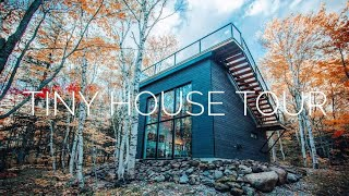 getlinkyoutube.com-Tour of a Tiny House In the Quebec Forest.